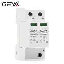 Free Shipping GEYA 2P DC 600V Din Rail SPD House Surge Protector  3Phase 1000v