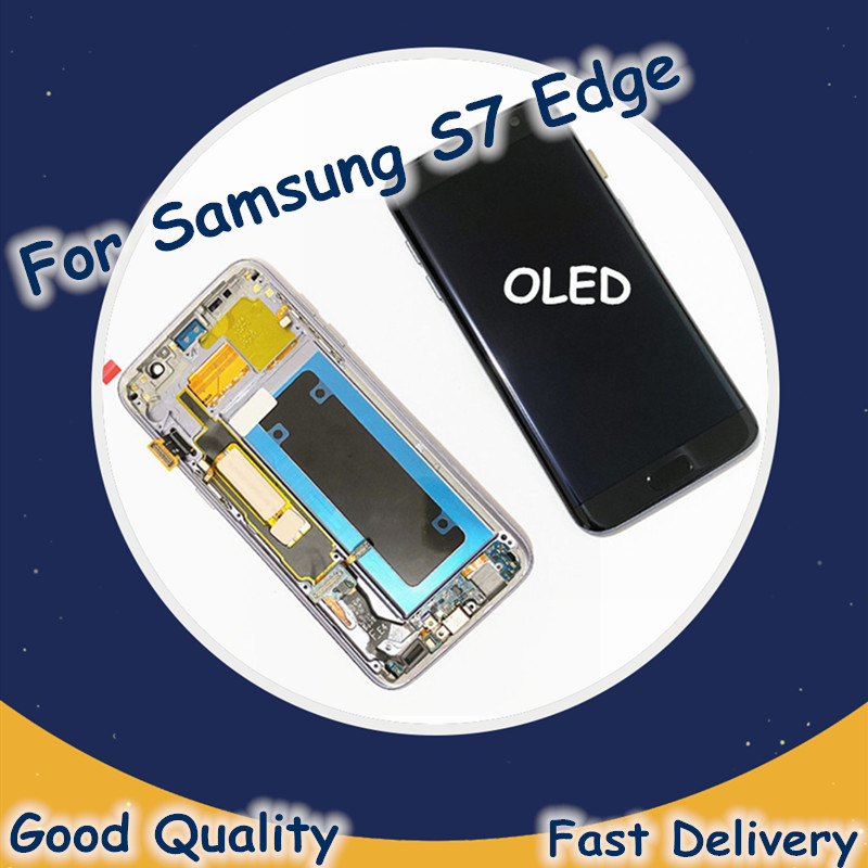 OLED <font><b>LCD</b></font> For <font><b>Samsung</b></font> Galaxy S7 Edge <font><b>G935</b></font> <font><b>LCD</b></font> Screen Display Touch Screen Digitizer For <font><b>Samsung</b></font> <font><b>G935</b></font> G935F <font><b>LCD</b></font> Screen Replacement image