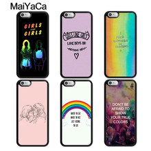 MaiYaCa Gay Lesbian LGBT Rainbow Rubber Phone Case For iPhone 5 6 6s 7 8 plus 11 Pro X XR XS Max Samsung galaxy S7edge S8 S9 S10(China)