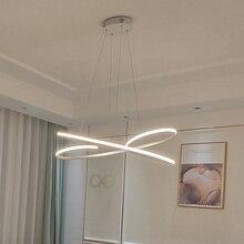 Moderne led anhänger lichter für esszimmer wohnzimmer Küche zimmer Schwarz/Weiß Aluminium Anhänger lampe lamparas modernas Leuchten 2018 neue