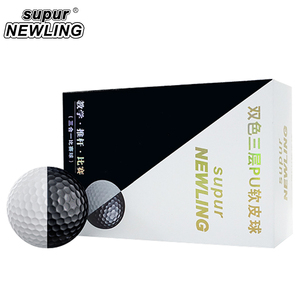 Image 2 - Мячи для игры в гольф на супер большом расстоянии 6 шт./кор. трехслойные шары из ПУ подходят для желобов черного и белого цвета