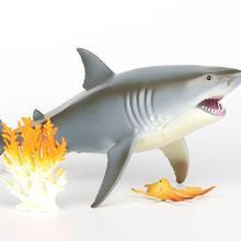 СУПЕРБЕЛАЯ Акула полый симулятор искусственная кожа изысканная