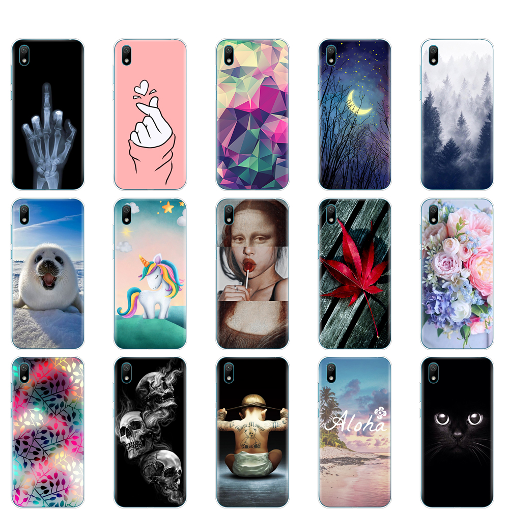 For Huawei y5 2019 Case Silicone TPU back Cover Soft Phone case For Huawei Y5 2019 5.71 inch painting protective coque bumper