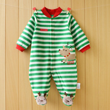 Baby Rompers Autumn Winter Christmas baby costume long sleeved Boy Girl romper Polar Fleece baby Clothing overalls for newborns