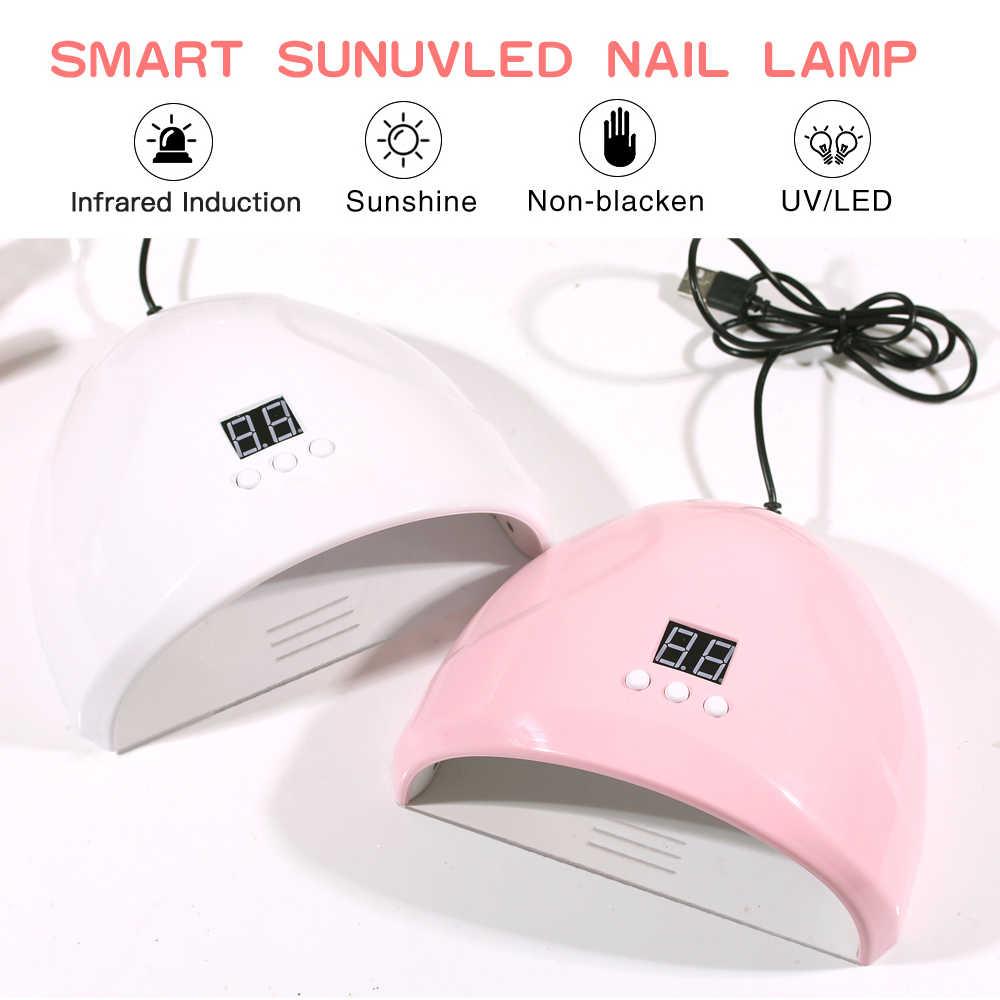 36W קטן אינטליגנטי אינדוקציה נייל מנורת UV LED נייל מנורת ייבוש לק ג 'ל קרח מנורת לק ג' ל ייבוש מנורה