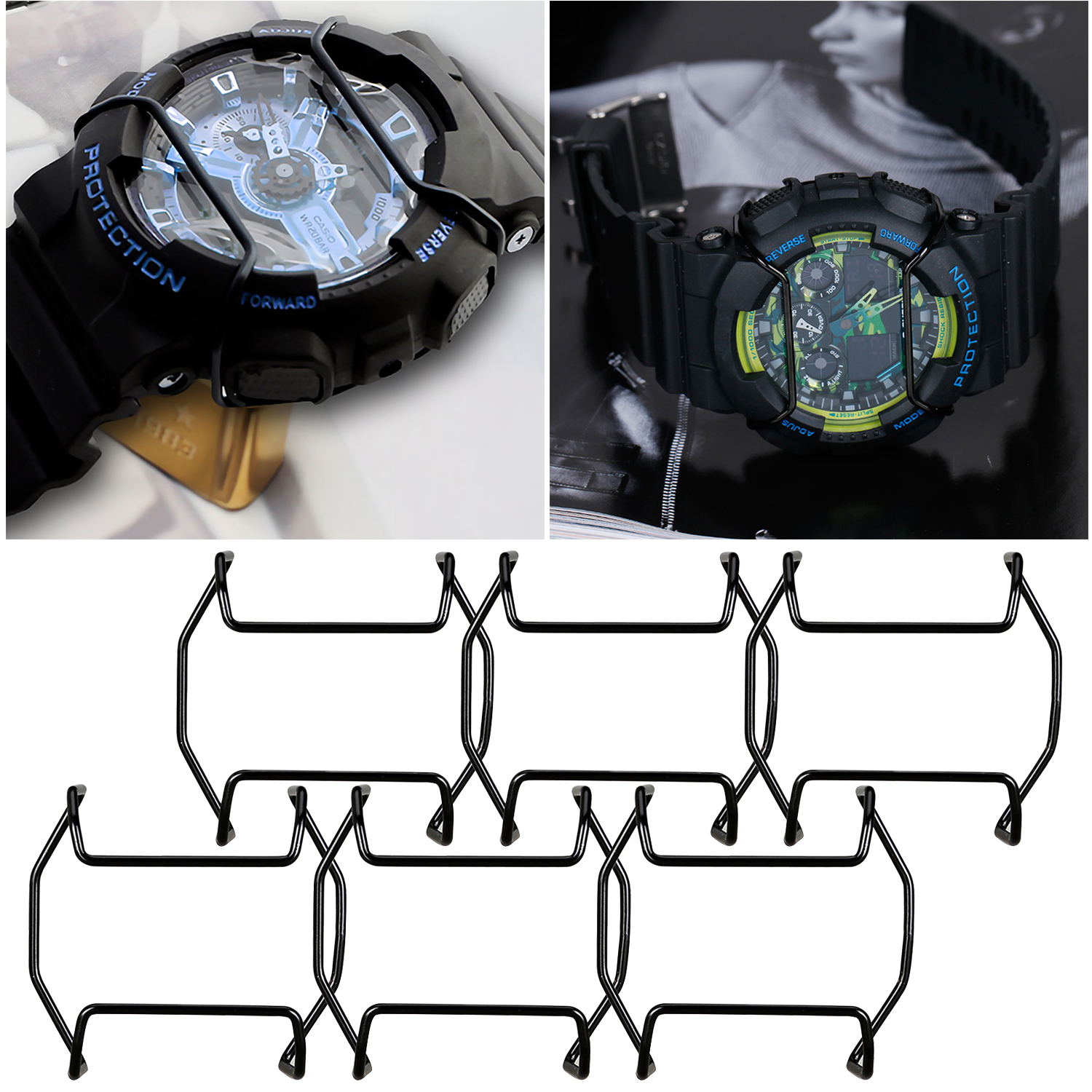 Gosear Stainless Steel Protective Guard Bumper for Casio G-Shock 5600 5610 6900 GA100 GX56\\\/GWX56 <font><b>GG1000</b></font> GWG1000 9400 image