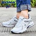 BONA hommes chaussures de course léger marque homme baskets microfibre cuir concepteur Trail Jogging baskets léger doux livraison gratuite