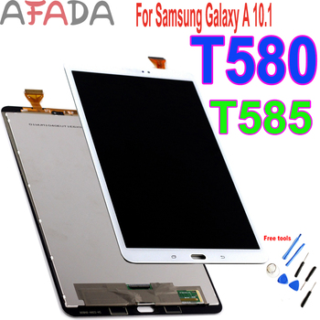 For Samsung Galaxy Tab A 10.1 SM-T580 SM-T585 LCD screen Touch Display Digitizer Assembly Replacement Repair Parts Dropshipping tablet lcd assembly for samsung galaxy tab a 9 7 sm p550 p550 display with touch screen digitizer panel lcd combo replacement
