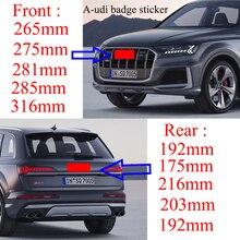 Новинка Стайлинг автомобиля 4 кольца 3D ABS пластик черный хром Карбон гриль Передняя Задняя багажная эмблема Эмблема для A3 A5 A7 Q3 Q5 Q7 A4L A6L C7 B8