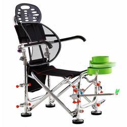 Уличные складные стулья для рыбалки, вращающаяся регулировка, переносное кресло из алюминиевого сплава с поддержкой удочки