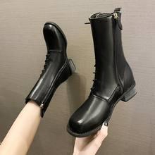 Женские сапоги на молнии короткие ботинки martin в британском