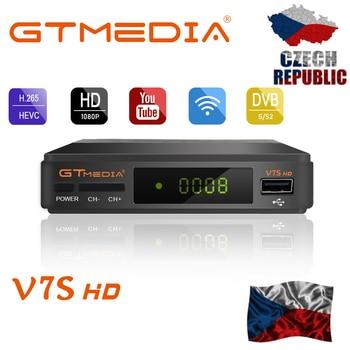 цена на FTA DVB-S2 Satellite TV Receiver Gtmedia V7S HD 1080P with USB WIFI support YouTube 2 Year Europe cline free from Freesat v7