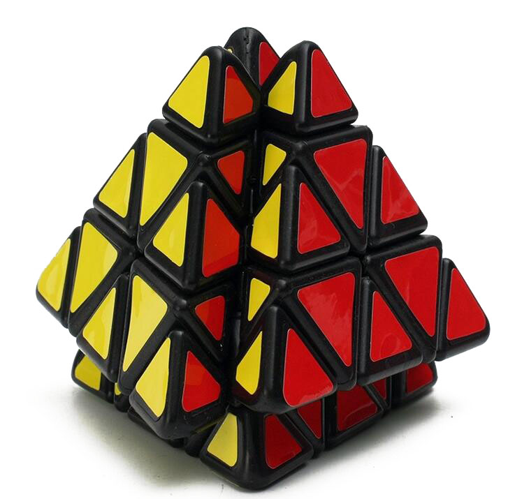 Quebra-cabeça de pirâmide de chama 3d, brinquedo infantil