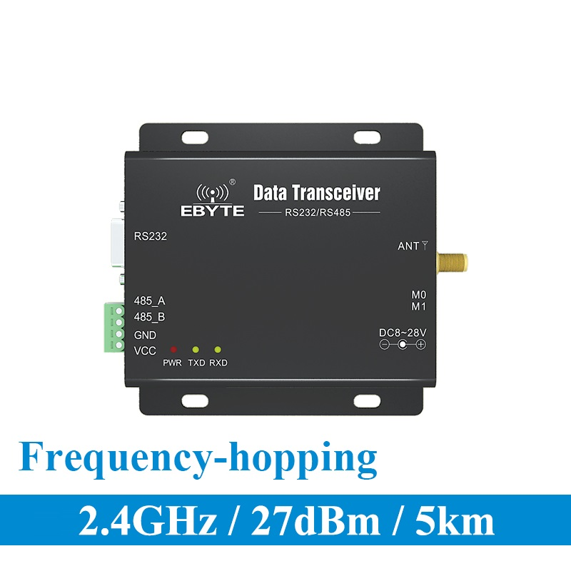 E34-DTU-2G4H27 completo y doble RS232 RS485 nRF24L01P 2,4 Ghz 500mW mucho uhf transceptor inalámbrico transmisor receptor Módulo de radiofrecuencia Antena Wifi Superbat Yagi 2,4 GHz 16dBi Booster Wireless-G para 802.11b/g/n WLAN RP-SMA Cable de enchufe macho 5m extensión de largo alcance