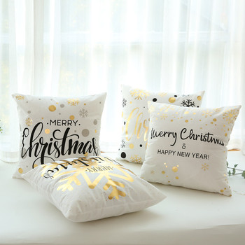 Christmas Decorations for Home 45x45cm Merry Christmas Cotton Linen Pillowcase Xmas Navidad Decor Happy New Year Gifts Natal недорого