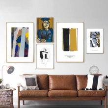 Vintage Vogue moda abstracto Picasso carteles e impresiones lienzo pintura arte pared cuadros para la decoración del hogar sala de estar