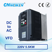 WK310 Vector Control frequency converter DC 200V-400V to Three-phase 220V 5.5kw solar pump inverter with MPPT control