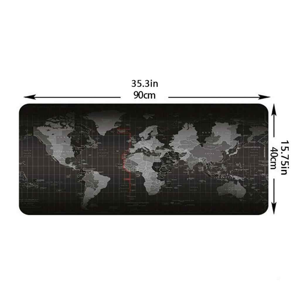 Klawiatura mapy świata ponadgabarytowa antypoślizgowa podkładka pod mysz podkładka do gier klawiatura czarna szara do gier klawiatura i mysz