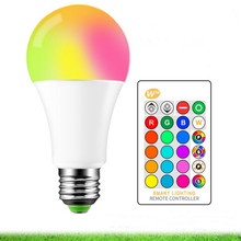 Bombillas Led E27 RGB RGBW RGBWW Lampadina 5W 10W 15W 220V Dimmable Ampoule With Remote Control+Memory Function