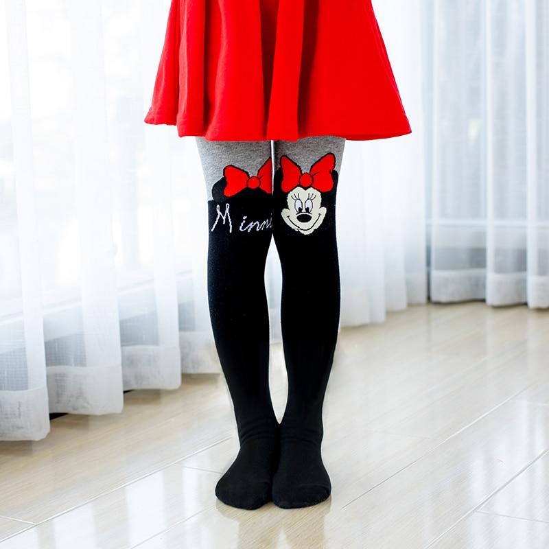 Disney/колготки для девочек, хлопковые колготки с рисунком Hello Kitty для маленьких девочек, милые розовые, Серые вязаные чулки для девочек, подходит для От 2 до 10 лет колготки для девочек колготки детские детские ко