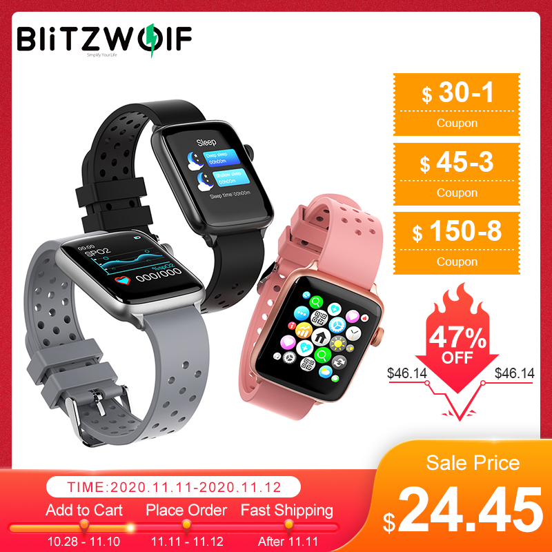 Blitzwolf BW-HL1Pro Smart Watch 1.54inch Full-touch Screen Smartwatch 24h Frequência cardíaca