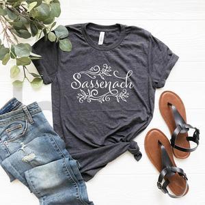 2020 Sassenach Shirt Outlander Book Series T-Shirt Claire Jamie Fraser Shirts Outlander Tv Show Inspired Tee women vintage tops