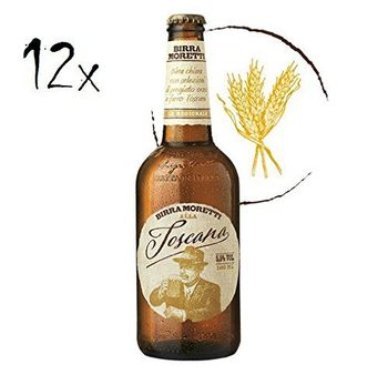 12x Birra Moretti alla Toscana Italian Lager Beer 5,5% Vol 50 cl