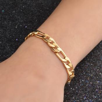 wholesale Noble fashion silver color Gold color 8MM men Women Bracelet charm wedding chain high quality jewelry H200 2