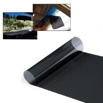 Najnowszy Auto folia z odcieniem okno słoneczna folia ochronna UV naklejki ciemny czarny okno samochodu folie folia z odcieniem szkła akcesoria samochodowe TSLM1 tanie i dobre opinie 40 -60 CN (pochodzenie) 60 -80 80 -100 40cm Przednia Szyba Ochrona przeciwsłoneczna na przednią szybę 0 07kg black