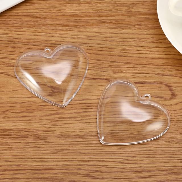 1/2 Set 65/80mm Heart Shape Bath Bomb Mold DIY Clear Plastic Bath Bomb Mould Acrylic Mold Bath Accessories DIY Chrisemas Xmas 4