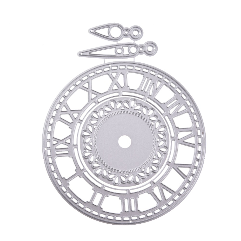 Clock Metal Cutting Dies Watch Frames Cut Die Mold Scrapbook Paper Craft Knife Mould Blade Punch Stencil Stamps And Dies