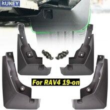 4 шт. для Toyota RAV4 автомобильный Стайлинг передние задние брызговики ограничители Брызговики пластиковые черные автомобильные аксессуары