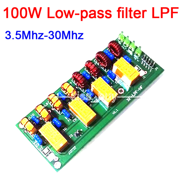 100W Short wave radio power amplifier Low pass filter LPF HF low pass LPF 3.5Mhz 30Mhz DC 12V Shortwave Ham Radio amplifier