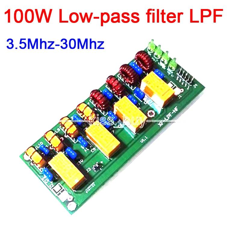 DYKB 100W Short Wave Radio Power Amplifier Low-pass Filter LPF HF Low Pass LPF 3.5Mhz-30Mhz DC 12V