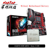 Amd Ryzen 3 3100 R3 3100 Cpu + Ga B450M Gaming Moederbord Pak Socket AM4 Cpu + Motherbaord Pak Socket AM4 Zonder Koeler