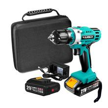 21V Multifunction Cordless Electric Drill Rechargeable Screwdriver Lithium Battery Mini Drill 2 Speed Power Tools