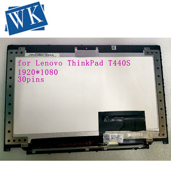 14''FHD LCD  Screen Digitizer Assembly+Bezel  B140HAN01.2 For Lenovo ThinkPad T440S