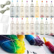 12/18Pcs Fabric Textile Tie-Dye Kit Colors DIY Design Safe Non Toxic Permanent Dyes Arts Craft Paint and Family Fun 4.28(China)