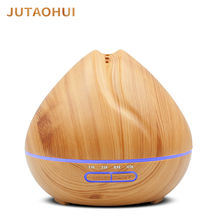 JUTAOHUI 500ML Air Humidifier Essential Oil Diffuser Humidificador Mist Maker 7 Color LED Aroma Diffusor Aromatherapy for home