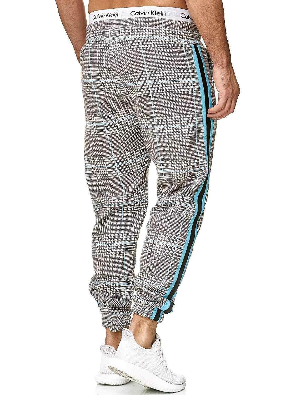 9 종류의 색상 새 캐주얼 격자 무늬 발목 길이 바지 남성 바지 힙합 조깅 바지 남성 운동복 일본 Streetwear 남자 팬