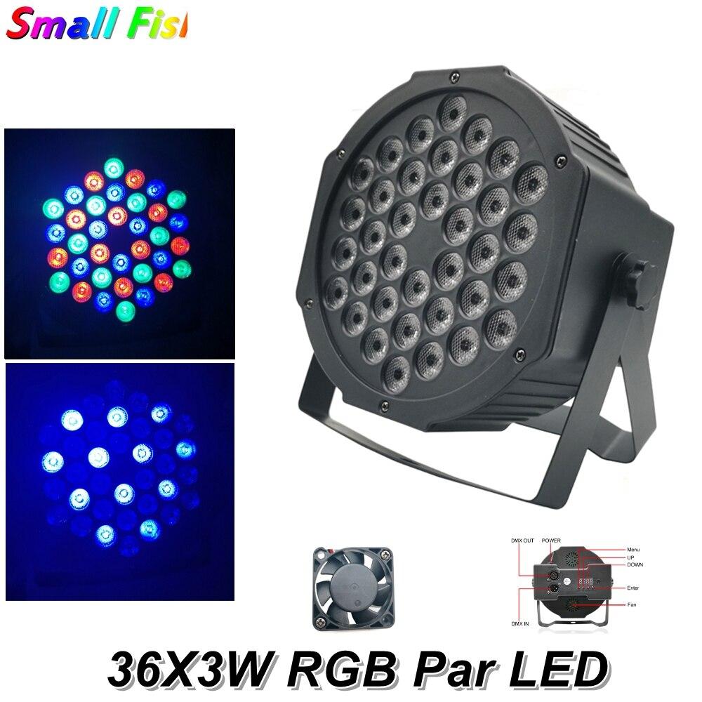 2XLot LED 36X3W RGB Colors Flat Par Lights Dj Wash Light Stage Uplighting KTV Disco  DMX512