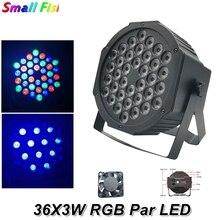 2XLot LED 36X3W RGB Colors LED Flat Par Lights Dj Wash Light Stage Uplighting KTV Disco Par Lights  DMX512 Disco Lights Par LED o 8xlot dmx512 led par 64 light rgbw 4in1 led flat par can stage uplighting 24x10w led par