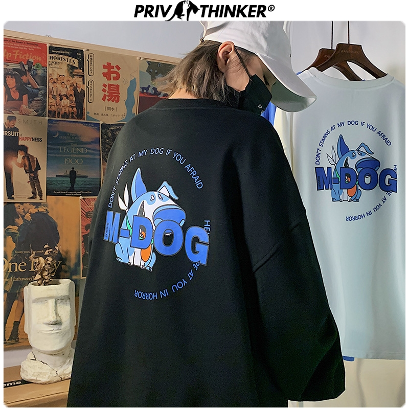 Privathinker Men Woman Print Spring Sweatshirt Men 2020 Fashion Korean O-Neck Hoodies Male Oversize Streetwear Pullover Clothes