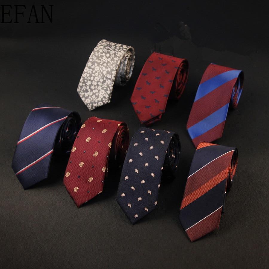 6cm Ties For Men Skinny Mens Ties Gravatas Slim Corbatas Vestidos Wedding Silk Polyester Groom Neck Tie Cravat Necktie
