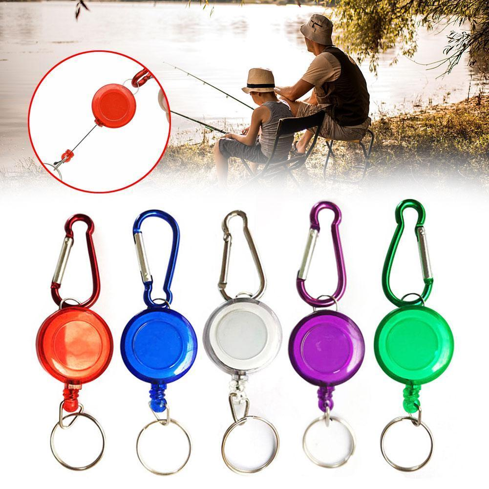 Retractable Key Chain High Resilient Telescopic Rope Keychain Stretch Tool Anti-theft Anti Outdoor Fishing Camping Key Ring G7P0