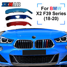 Zemar tira de partida automotiva, 3 peças, abs, para bmw x2 f39 series 2018 2019 2020, para carro de corrida, clipe de guarnição m power acessórios do desempenho