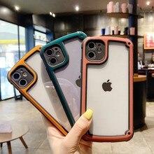 Two-color border 3 colors for iPhone SE2020 11 Pro X XS Max XR 7 8 Plus transparent anti-fall mobile phone case hot sale genuine 2016 hot sale 3 colors 100