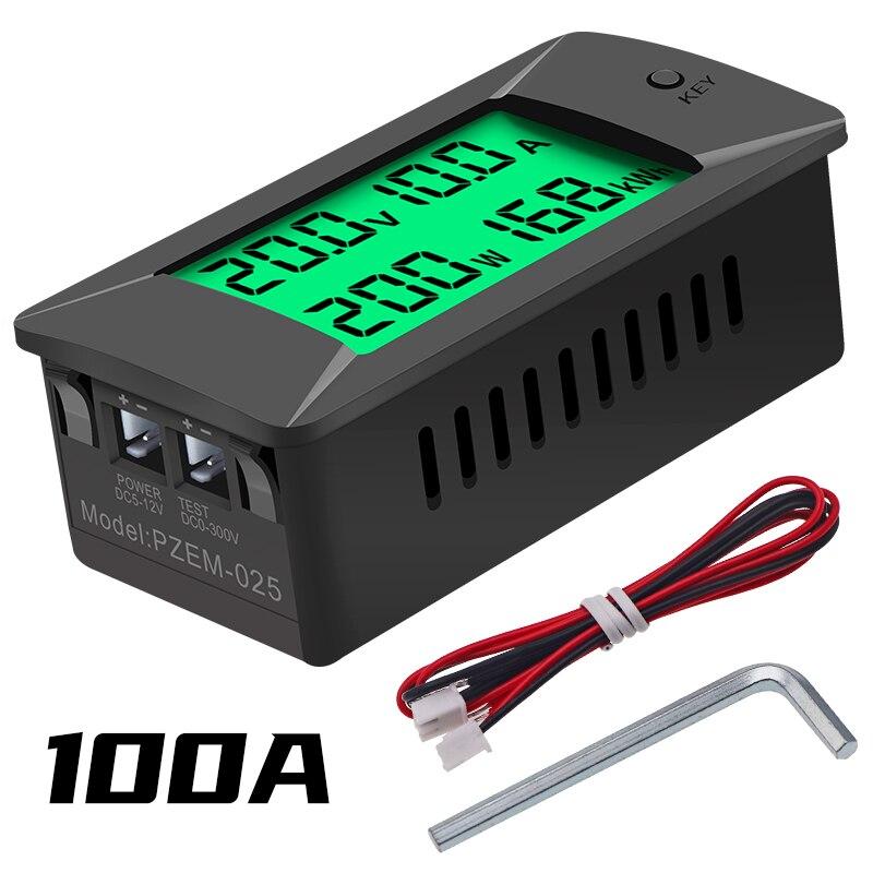 PZEM-025 Nieuwste 0-300V 100A Shunt Bulit Dc Digitale Batterij Tester Bidirectionele Ampèremeter Voltmeter Power Energy watt Meter 1