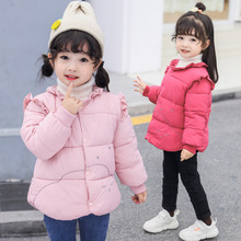 Girls Outerwear Coat Winter 2019 Children Jackets Parkas Baby Jacket Toddler Warm Kid Clothes For 2-5 Years