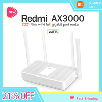 Xiaomi Redmi Router AX3000 Wifi 6 Mesh WIFI Gigabit 2.4G/5.0GHz Dual-Band Wireless Router Signal Amplifier High Gain Antenna